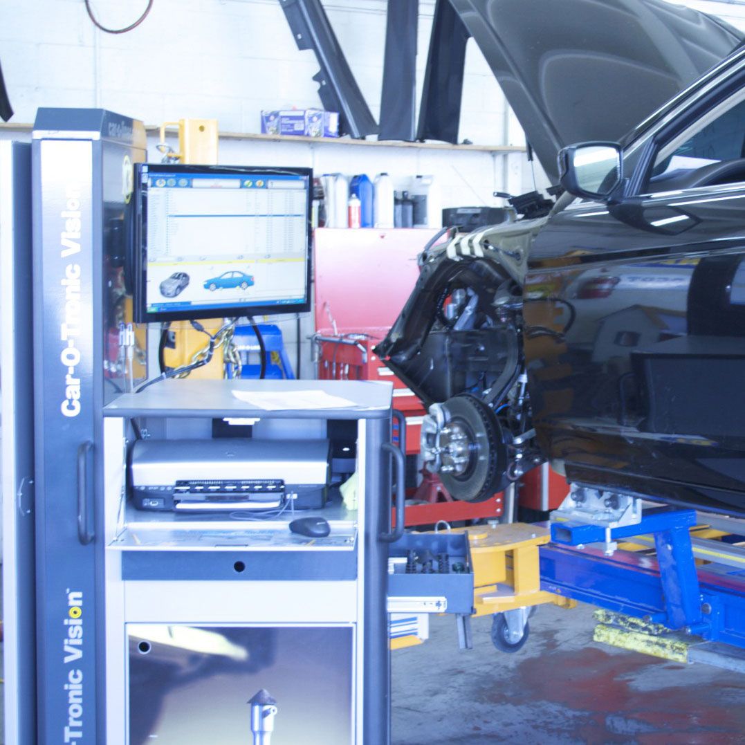 nissan certified collision repair frame system